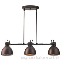 "Stone & Beam Emmons Triple Pendant with Bulbs  8.25""-56.25"" H  Oil-Rubbed Bronze - B071S5RLR6"