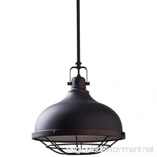 Stone & Beam Industrial Grill Pendant with Bulb 15-63 H Oil-Rubbed Bronze - B07149T97D