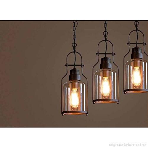 "Vintage Industrial Glass Pendant Light: SUSUO Lighting 6"" Wide Vintage Industrial Glass Pendant"