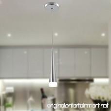 Unitary Brand Modern Nature White LED Acrylic Pendant Light Max 5w Plating Finish - B00VV4HV0Q