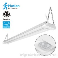 4ft Linkable LED Motion Activated Utility Shop Light 40W (120W T8 Tubes Equiv.) LED Ceiling Fixture 4100lm Energy Star & ETL Listed 4000K Cool White for Garage/Basement/Workshop - B0777FG4GD