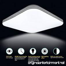 B-right 20W Square LED Flush Mount Ceiling Light 5000K Cold White 1400lm Super Bright 13-Inch - B06ZXR42Q7