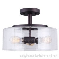 CANARM ISF633A03ORB Nash 3 Bulb Semi-Flush Mount with Seeded Glass Oil Rubbed Bronze - B01L9NUOZ2