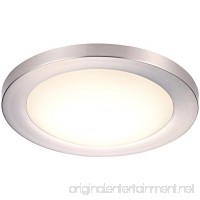 Cloudy Bay 12 inch LED Flush Mount Ceiling Light 4000K Cool White Dimmable 17W 1100lm -120W Incandescent Equivalent Brushed Nickel Finish - B073QVHXXR
