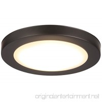 Cloudy Bay 7.5 inch LED Flush Mount Ceiling Light 4000K Cool White Dimmable 12W 840lm -100W Incandescent Fixture Equivalent ETL ORB Wet Location - B06XTK4H8D