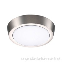 GetInLight 5 Inch Flush Mount LED Ceiling Light with ETL Listed Bright White 4000K Brushed Nickel Finish IN-0302-1-SN-40 - B06XR8RWMV