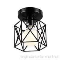 KOONTING Retro Vintage Industrial Flush Mount Ceiling Light  Mini Painting Metal Pendant Light Ceiling Light Fixture for Hallway Stairway Bedroom Kitchen  Black. - B072WQQNXZ