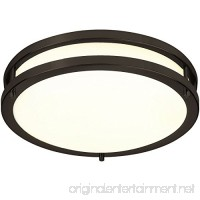 LB72120 12-Inch LED Flush Mount Ceiling Light  Oil Rubbed Bronze  3000K Warm White  1050 Lumens  Dimmable - B01GEJSQUG