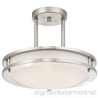 LB72131 LED Semi Flush Mount Ceiling Fixture  Antique Brushed Nickel Finish  4000K Cool White  1050 Lumens  Dimmable - B018T9PTV8