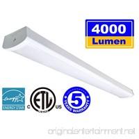 Linkable LED Wraparound Flushmount Light 4ft LED Shop Light for Garage 4000 Lumens 5000K  ETL and Energy Star Certified LED Linear Indoor Lights  LED Ceiling Light  50K1PK - B077ZLMTQB