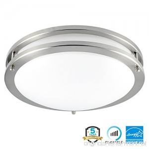 Luxrite LED Flush Mount Ceiling Light 12 Inch Dimmable 5000K Bright White 1380 Lumens 18W Ceiling Light Fixture Energy Star & ETL - Perfect for Kitchen Bathroom Entryway and Closet - B072HM7JJ2