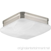 Progress Lighting P3490-09 2-Light Flush Mount with Etched Alabaster Glass Square Diffuser - B00I9J5IGU