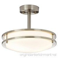 SOTTAE 11.8 Modern Brushed Nickel Kitchen Bathroom Dining Room Living Room Flush Mount Ceiling Light Ceiling Lamp For Corridor - B078THRN5H