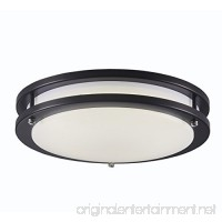 Surpars House LED Flush Mount Ceiling Light 4000K (Daylight Glow) 15W (60w equivalent) 12 Inch Black - B074J52DK1