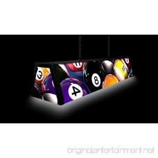 44 Acrylic Pool Table Light Rack'em Up - B01E6FV96S
