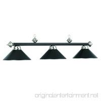 "54"" 3 Lamp Hanging Pool Table Light - Matte Black - B006J75PYY"