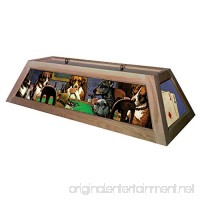 Dogs Playing Poker Pool Table Light - Raw/Unfinished - B008UU7WRQ