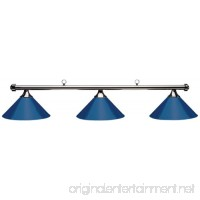 Hj Scott Billiard Table Light with Gunmetal Bar and 3 Blue Painted Metal Shades 55-Inch - B00F9Q23XW