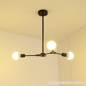 BOKT Mid Century Antique 3-Light Chandeliers Multi-Adjustable Chandelier Lighting Black Sputnik Kitchen Island Lighting E26/E27 Bulb Sockets - B0776R463Z