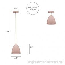 Ceiling Light Kitchen Island Pendant - Rose Gold Aluminum Fixture - B078SFB692
