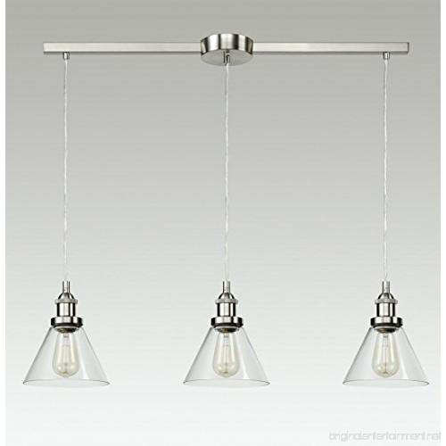 EUL Vintage Kitchen Island Lighting Glass Linear