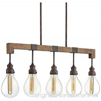 Hinkley 3266IN Transitional Five Light Linear Chandelier from Denton collection in Bronze/Darkfinish  - B06X6M9Y5J