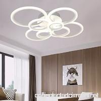 LED Ceiling Lamp Acrylic Modern Ceiling Lights Livingroom Bedroom Flush Mounted Ceiling Light Circle 8 Rings Lighting Fixtures White Light Source 40inch 32.2inch 8.2inch - B07DHJXD8S