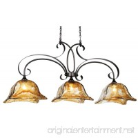 Uttermost 21009 Vetraio 3-Light Kitchen-Island Light with Glass Shades  Oil-Rubbed Bronze - B0013OOC6U
