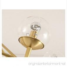 Wrought Iron Island Chandelier Pendant Lighting Metal Ceiling Light Gold Industry Lamp Pendant Lights Chandeliers by Luolax (8-Heads) - B07BPZJLPN