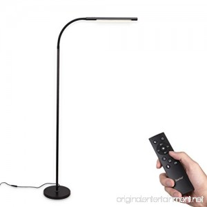 Barrina LED Floor lamp Dimmable and Color Adjustable 3000K-5500K 12W with Remote Control Sensor Touch Switch Flexible Standing Light for Reading Living Room Bedroom Office Black - B078S57SG4