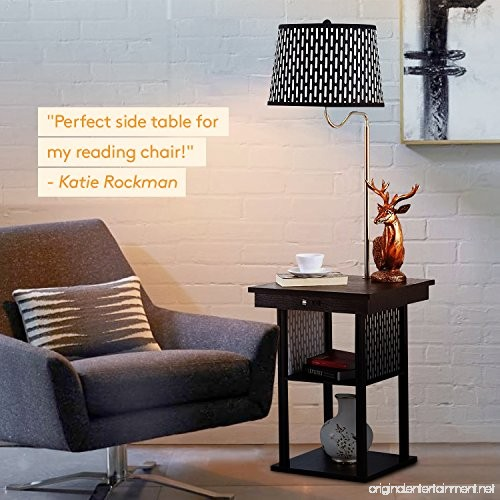 End Table Lamps For Living Room Home Combo Lamp Tables: Mid Century Modern Nightstand Alexa