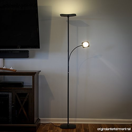 Brightech Sky Plus Led Torchiere Floor Amp Reading Lamp