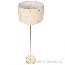 Brightech Tufted LED Floor Lamp– Contemporary Modern Textured Shade Lamp- Tall Pole Standing Uplight Lamp for Living Room Den Office Or Bedroom- Energy Efficient Bulb Included- Antique Brass - B07BKRB6FH