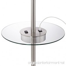 Caper Tray Table Floor Lamp with USB Port and Outlet - B071SFYS8P