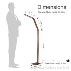 Finether LED Floor Lamp Dimmable and Color Adjustable 3000K - 6000K 8W Touch Standing Light for Reading Living Room Bedroom Office Bronze - B01N53TG8Y