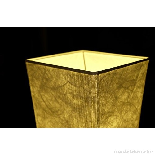 Leonc 52 Quot Floor Lamp With Fabric Shade Amp 2 Bulbs For