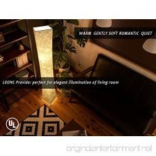 LEONC Design 61'' Creative LED Floor Lamp Softlighting Minimalist Modern Contemporary with Fabric Shade & 2 Bulbs Floor Lamps for Living Room Bedroom Warm Atmosphere(Tyvek Dupont 10 x 10 x 61 inch) - B073SR5XK4