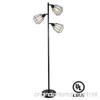 LEONLITE 65inch Track Tree Floor Lamp  3-Head Torchiere Lamp Fixture  3 Bulbs Included  Rustic Floor Lamp Industrial Style - B073TRKY4L