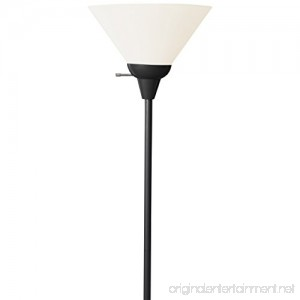 Light Accents 6113-21 Floor Lamp 72 Tall with White Shade (Black) - B01D53FT5E