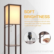 SHINE HAI Shelf Floor Lamp Shade Diffused Light Source with Open Box Display Shelves 63inch Modern Mood Lighting for Bedroom and Living Room Brown - B07239S58H