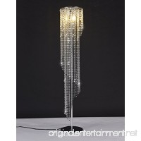 Surpars House Silver Crystal Floor Lamp S Shape Chrome Finish - B078GM963Z