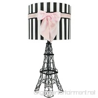 "24.5"" Eiffel Tower Table Lamp with Bowknot Shade (Pink) - B01MXZUQFR"