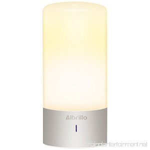 Albrillo Bedside Touch Lamp Dimmable Nightstand Small Table Lamps With Warm White Light and Color Changing RGB Modes For Bedrooms - B01EFKMAE4