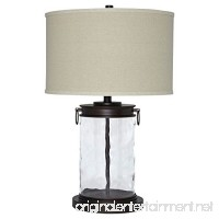 Ashley Furniture Signature Design - Tailynn Farmhouse Glass Table Lamp - Clear and Bronze Finish - B01G7T5FLQ