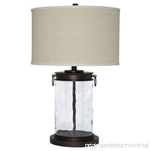 Ashley Furniture Signature Design - Tailynn Farmhouse Glass Table Lamp - Clear and Bronze Finish - B01G7T5FLQ