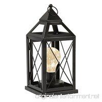 """Circleware Lantern Metal Cage Style Desk  Table  or Hanging Lamp - Cordless Accent Light with LED Bulb - 10.25"""" High - B07BZKBLGP"""