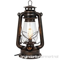 Dimmable Electric Lantern lamp with Edison Bulb Included Rustic Rust Finish - B074QXP7FF
