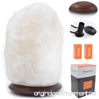 Hazantree Sutlej (5-8 lbs 8 to 9) Pearl White Himalayan Salt Lamp with Rosewood Dimmer Cord -Made In Pakistan- hymalain salt lamps salt rock lamp white hymalain salt lamps himilian salt lamp - B0721W4DTB