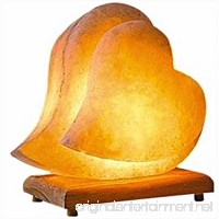 Himalayan Salt Lamp Hand Carved Himilian Pink Light Romantic Double Heart Crystal Rock on Neem Wood Base UL - Approved Cord with Dimmer Switch Brightness Control Enjoy this Eco Friendly Work of Art! - B017QPJQ4W