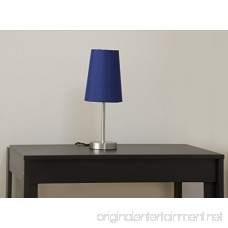 Light Accents Table Lamp Brushed Nickel with Blue Fabric Shade - B006M467NC